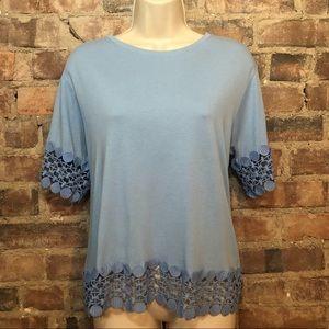 Topshop blue shift shirt